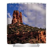 One Finger Shy Shower Curtain