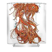One Fish Two Fish Shower Curtain