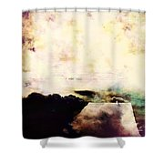 One Gull Left Shower Curtain