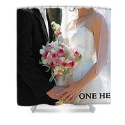 One Heart #2 Shower Curtain