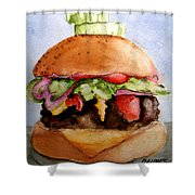 One Hearty Meal Shower Curtain