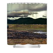One Horse Town Shower Curtain