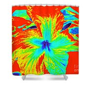 One Hot Flower Shower Curtain
