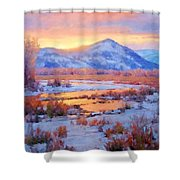One Last Winters Eve Shower Curtain