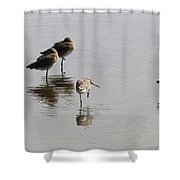 One Legged Stand Shower Curtain