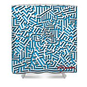 One Liner 26 3d Shower Curtain