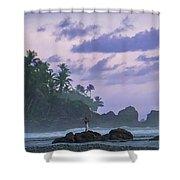 One Man Island Shower Curtain