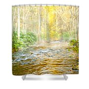 One Misty Morning Shower Curtain