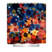 One Moment One Sun Shower Curtain
