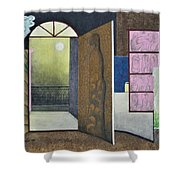 One Moonlit Night- J-16 Shower Curtain