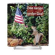 One Nation Under God Shower Curtain