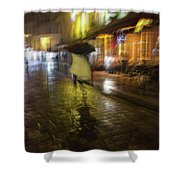 One Night In Paris Shower Curtain