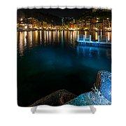 One Night In Portofino - Una Notte A Portofino Shower Curtain by Enrico Pelos
