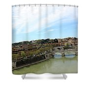 One Of Rome's Bridge Shower Curtain