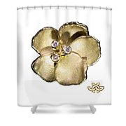 One Pansy Shower Curtain