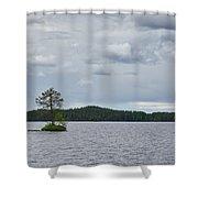 One Pine Island. Koirajarvi Shower Curtain