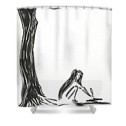 One Poem Shower Curtain