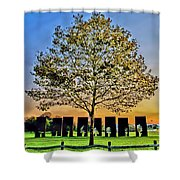 One Positive Eight Negatives Shower Curtain