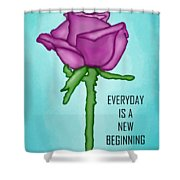 One Rose Everyday Shower Curtain