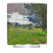 One Stormy Evening Shower Curtain
