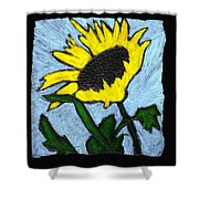 One Sunflower Shower Curtain