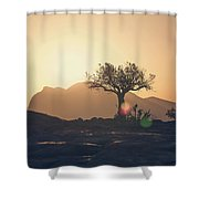 One Tree Hill Shower Curtain