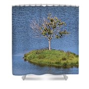 One Tree Island Shower Curtain