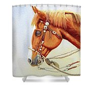 One Tricked Out Cowpony Shower Curtain