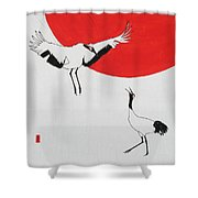 One Up One Down Shower Curtain
