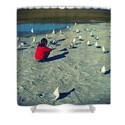 One With The Gulls Shower Curtain
