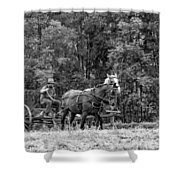 One With The Land - Bw Shower Curtain