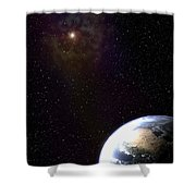 One Wonders The Watcher Shower Curtain