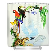 One World Shower Curtain