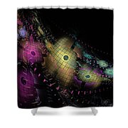 One World No.6 - Fractal Art Shower Curtain