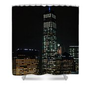 One World Trade Center In New York City  Shower Curtain