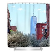One World Trade Center In Spring Shower Curtain