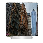 One World Trade Center New York Ny From Nassau Street Shower Curtain