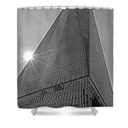One World Trade Center New York Ny Sunset Black And White Shower Curtain