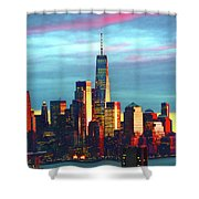 One World Trade Sunset Spectacle Shower Curtain