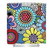 One Yellow Bloom Shower Curtain