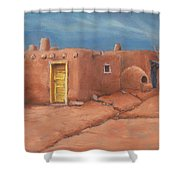 One Yellow Door Shower Curtain