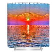Oneida Lake Sunset Art Shower Curtain