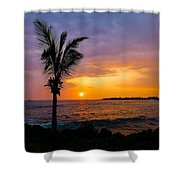 Oneo Bay Sunset Shower Curtain