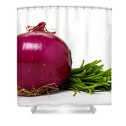 Onion And Chives Shower Curtain
