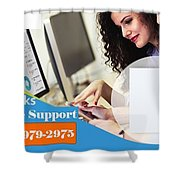 Online Support Phone Number For Quickbooks Enterprise Shower Curtain