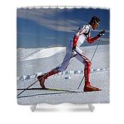 Online Winter Sports Equipment Shower Curtain