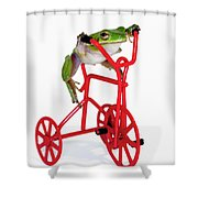 Only 3 More Miles Shower Curtain