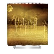 Only At Night Shower Curtain
