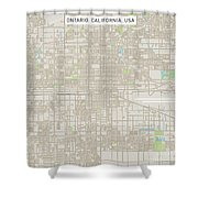 Ontario California Us City Street Map Shower Curtain