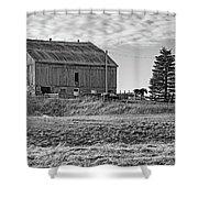 Ontario Farm 4 Bw Shower Curtain
